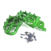 ZAP TechniX E-Peg Footpegs Kawasaki KXF 250 06-, 450 07- green