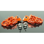 ZAP TechniX E-Peg Footpegs LowBoy KTM, Yamaha, Husqvarna orange