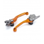 Zeta Racing Pivot Folding Lever Set FP KTM SX/EXC 14-16, Husqvarna TC/FC 14-, TE/TX/FE/FX 17 orange