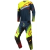 Alpinestars Techstar Factory Petrol-Yellow Fluo-Red 2017 SALE