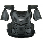 Fly Racing Youth Revel Roost Guard Black Kids