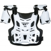 Fly Racing Youth Revel Roost Guard White Kids