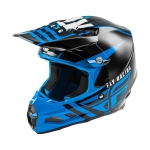 Fly Racing F2 Carbon MIPS Helm Granite Blue-Black-White 2020