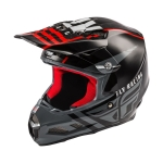 Fly Racing F2 Carbon MIPS Helm Granite Red-Black-White 2020