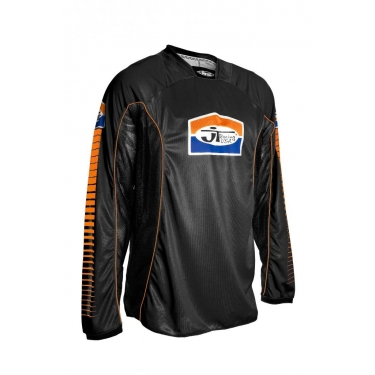 JT Racing Shirt black-orange Back-in-Black S # SALE