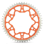 Moto-Master Rear Sprocket Fusion KTM 60 SX 98-01, 65 98-, Husqvarna TC 65 17- (420) orange