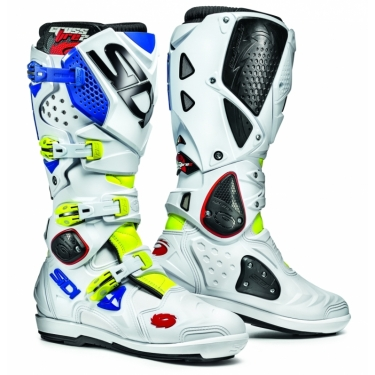 Sidi Crossfire 2 SRS Boots Fluo Yellow-White-Blue