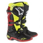 Alpinestars New Tech 10 Stiefel Black-Fluo Yellow-Red