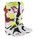 Alpinestars New Tech 10 Stiefel White-Red-Fluo Yellow