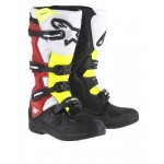 Alpinestars New Tech 5 Stiefel Black-White-Red-Yellow Fluo